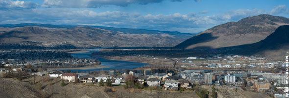 Where the North and South Thompson meet Kamloops, British Columbia